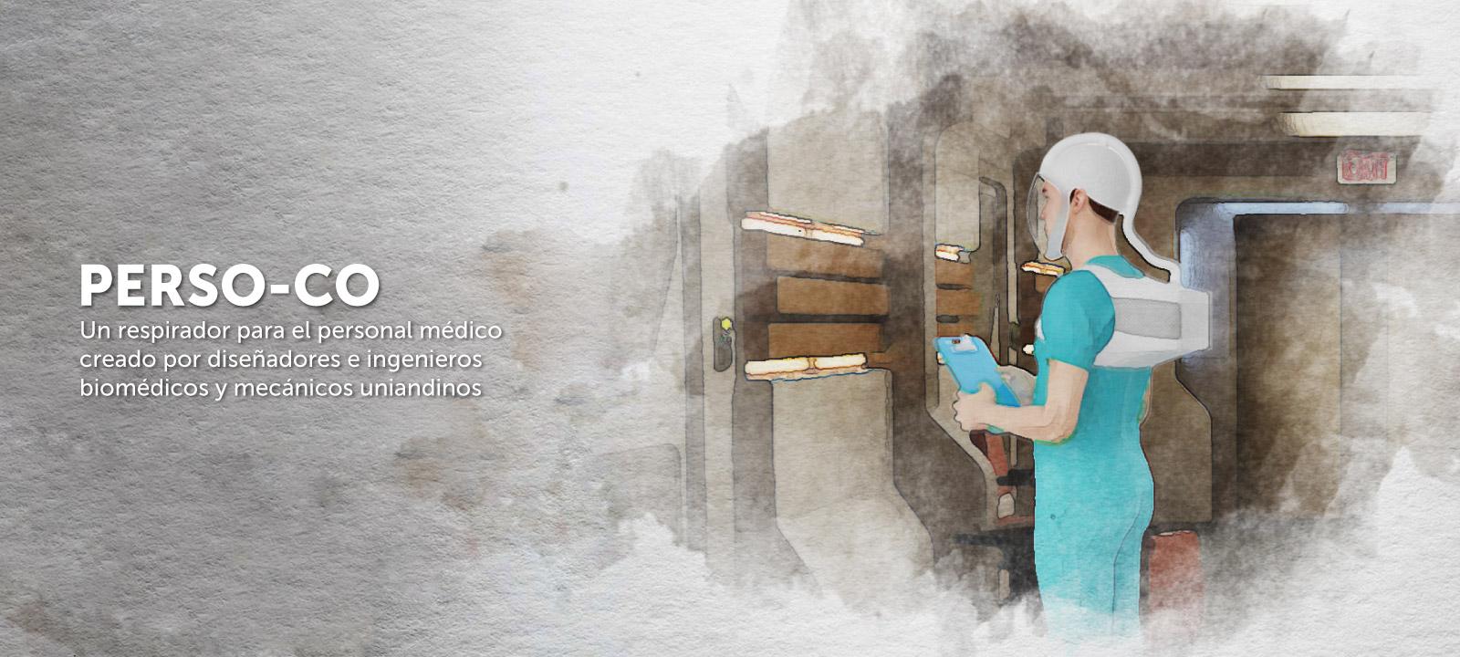 PersoCo - un respirador cómodo y eficaz para personal médico