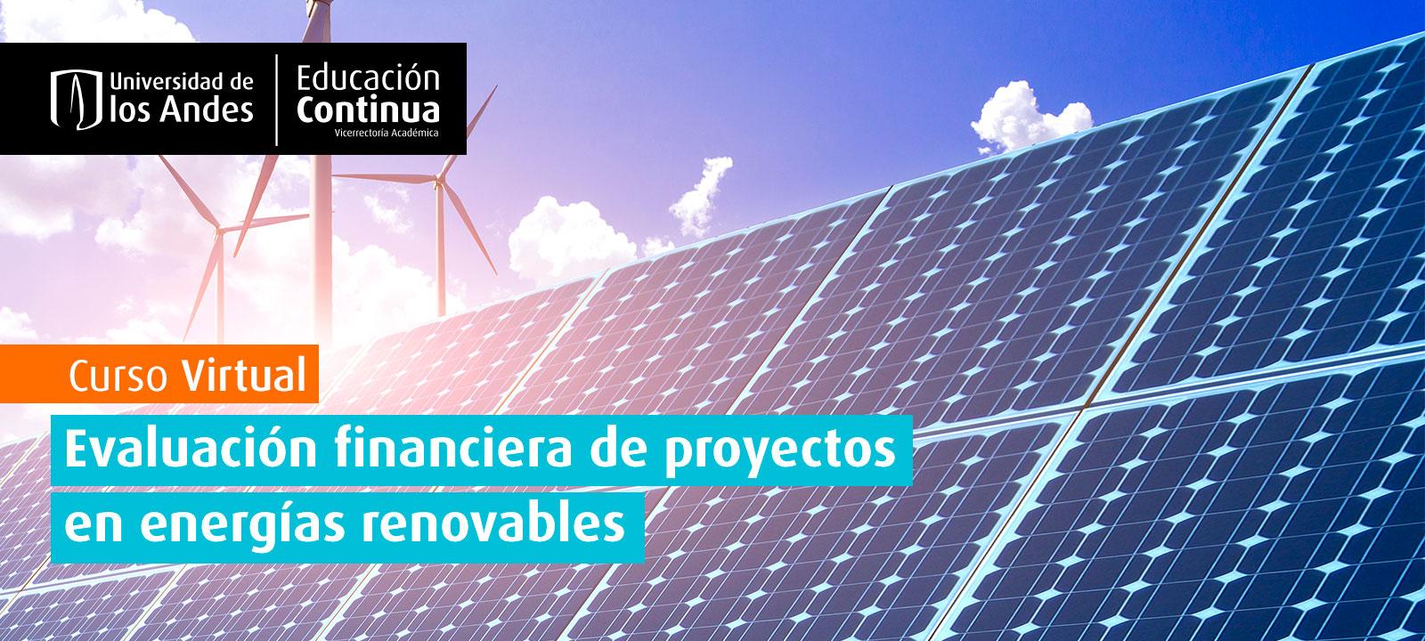 Curso EDCO: Evaluación financiera de proyectos en energía renovables