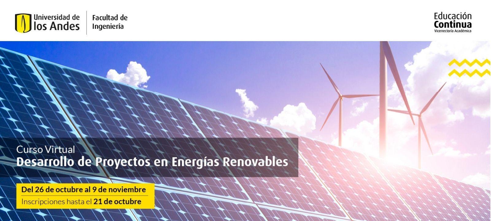 Curso virtual | Desarrollo de proyectos en energías renovables