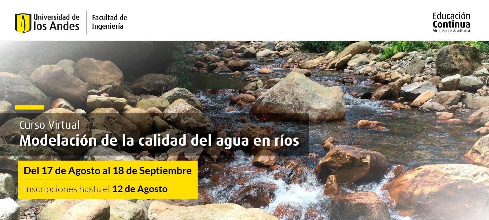 Curso virtual | Modelación de la calidad del agua en ríos