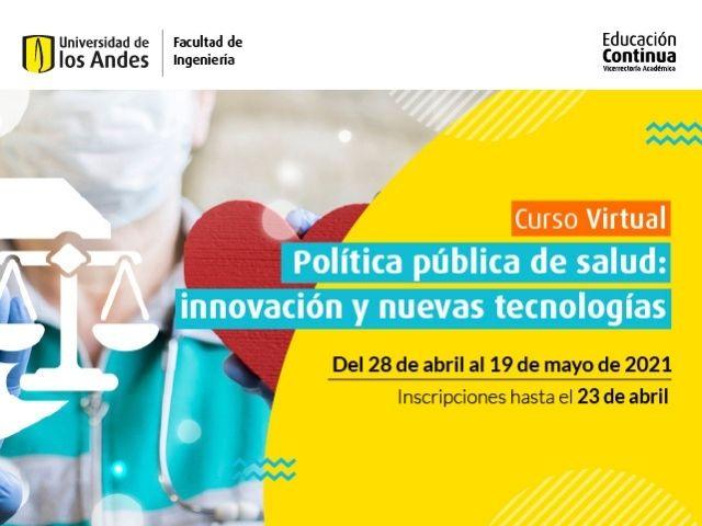 Curso virtual - Política pública de salud: innovación y nuevas tecnologías