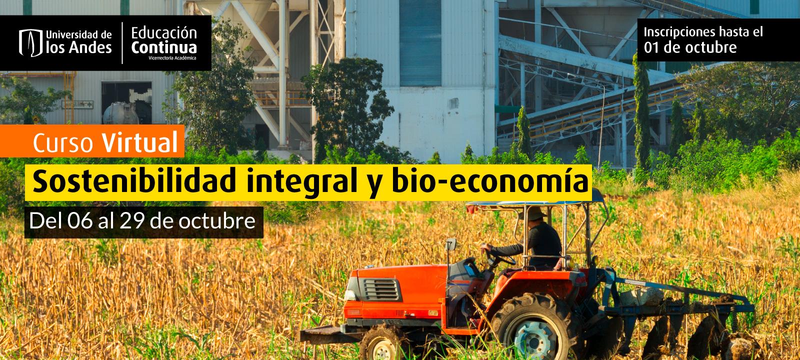 Curso virtual - Sostenibilidad integral y bio-economía