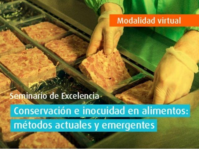 Curso virtual - Conservación e inocuidad en alimentos: métodos actuales y emergentes