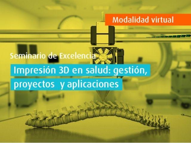 Curso virtual | Impresión 3D en salud: gestión, proyectos y aplicaciones
