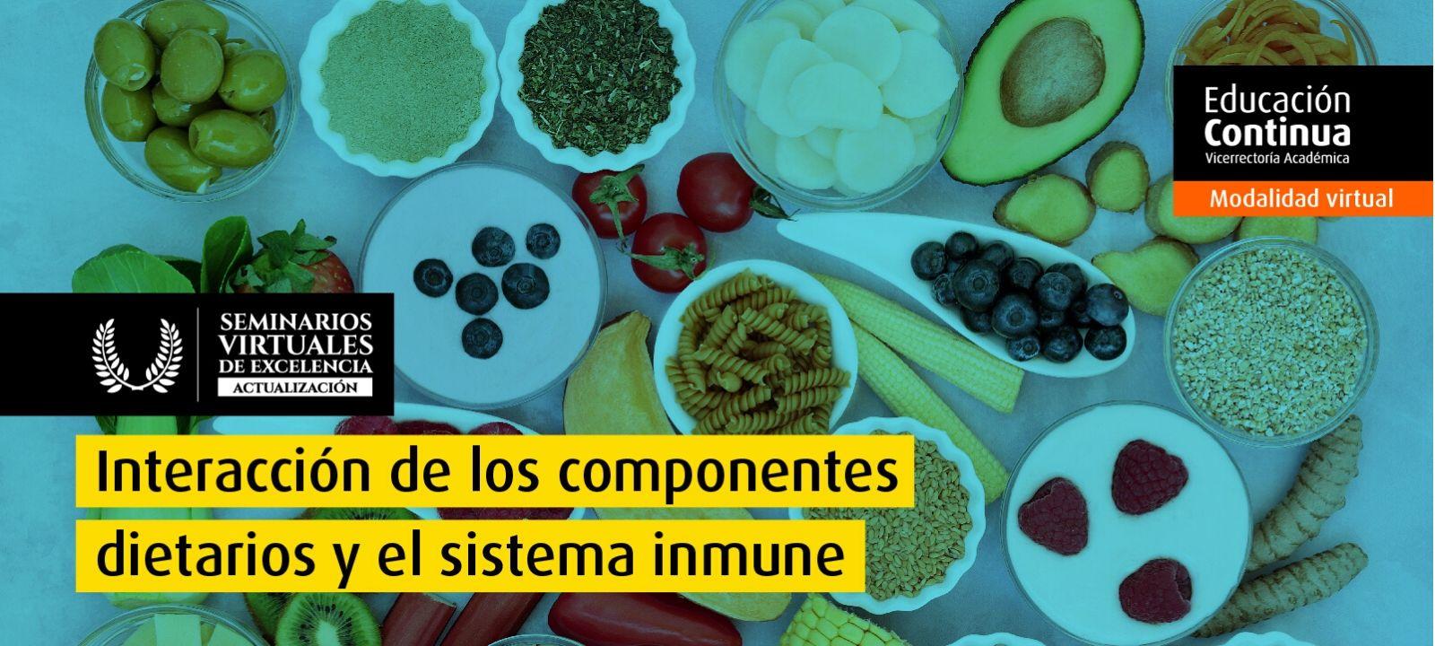 Seminario Virtual de Excelencia - Interacción de los componentes dietarios y el sistema inmune