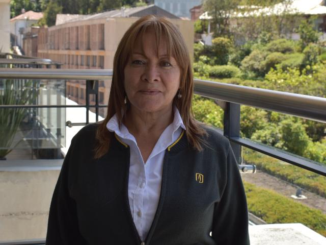 Dorys Bolívar, auxiliar administrativa del Departamento de Ingeniería de Sistemas y Computación
