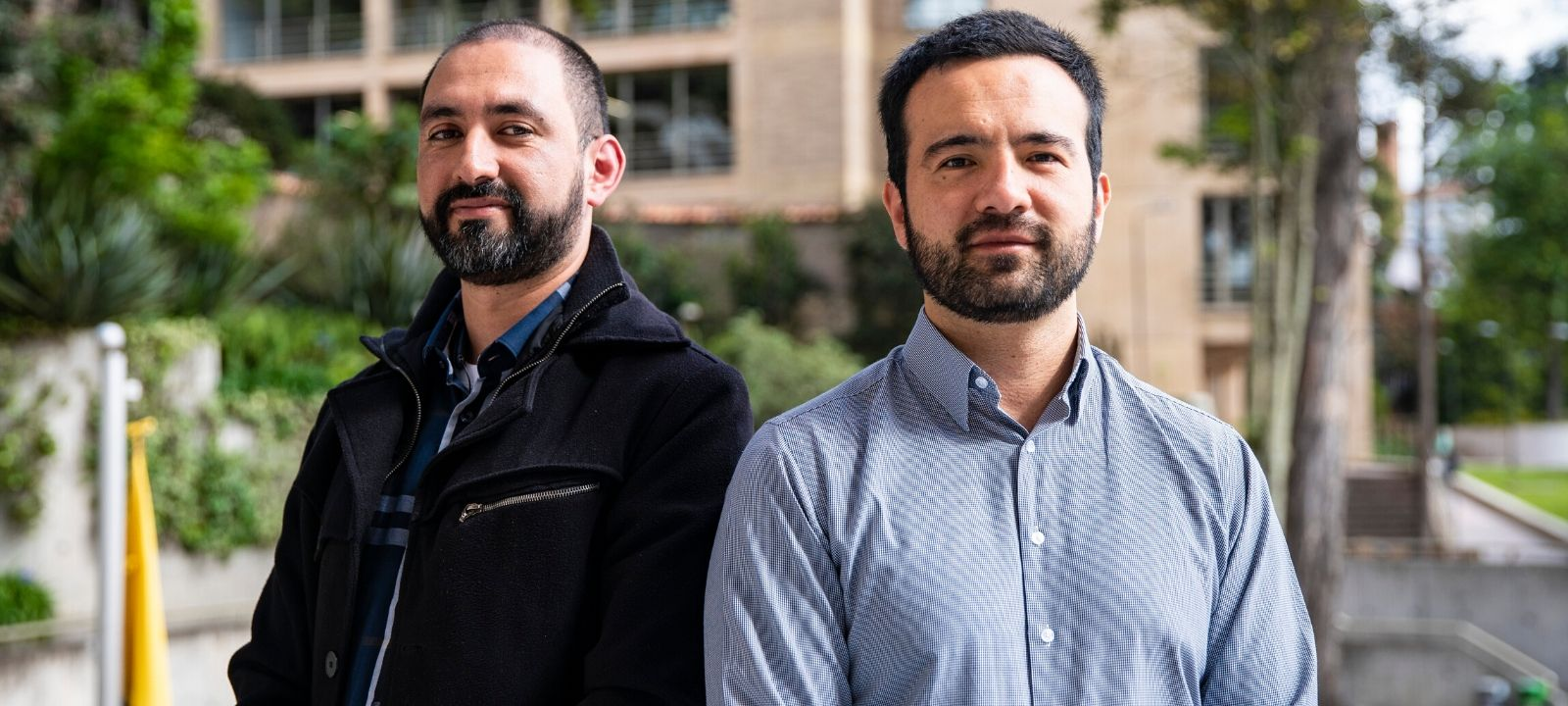 Manuel Camargo y Oscar González, investigadores del Departamento de Ingeniería de Sistemas y Computación