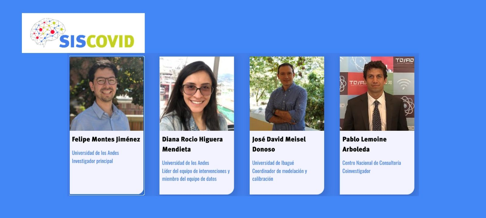 Siscovid - Proyecto Felipe Montes, profesor asistente de Ingeniería Industrial