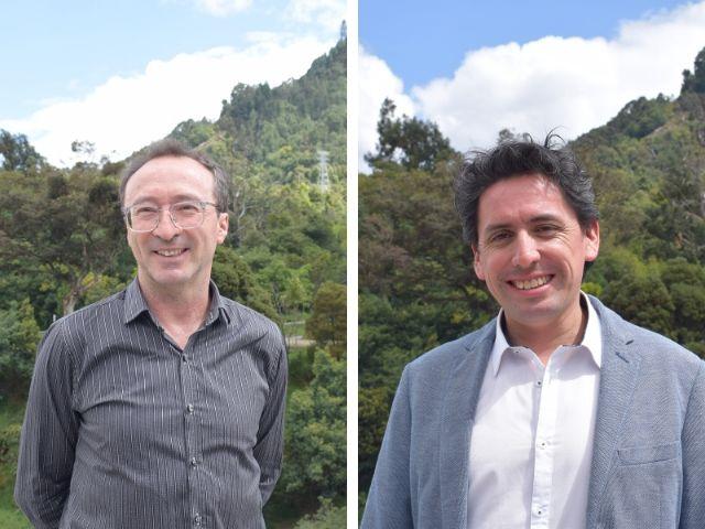 Jorge Medina y Jairo Escobar, profesores de Ingeniería Mecánica de Uniandes