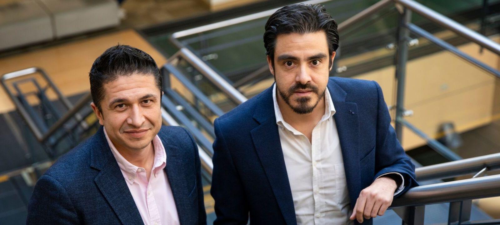 Sergio Cabrales y Carlos Valencia, profesores de Ingeniería Industrial | Uniandes