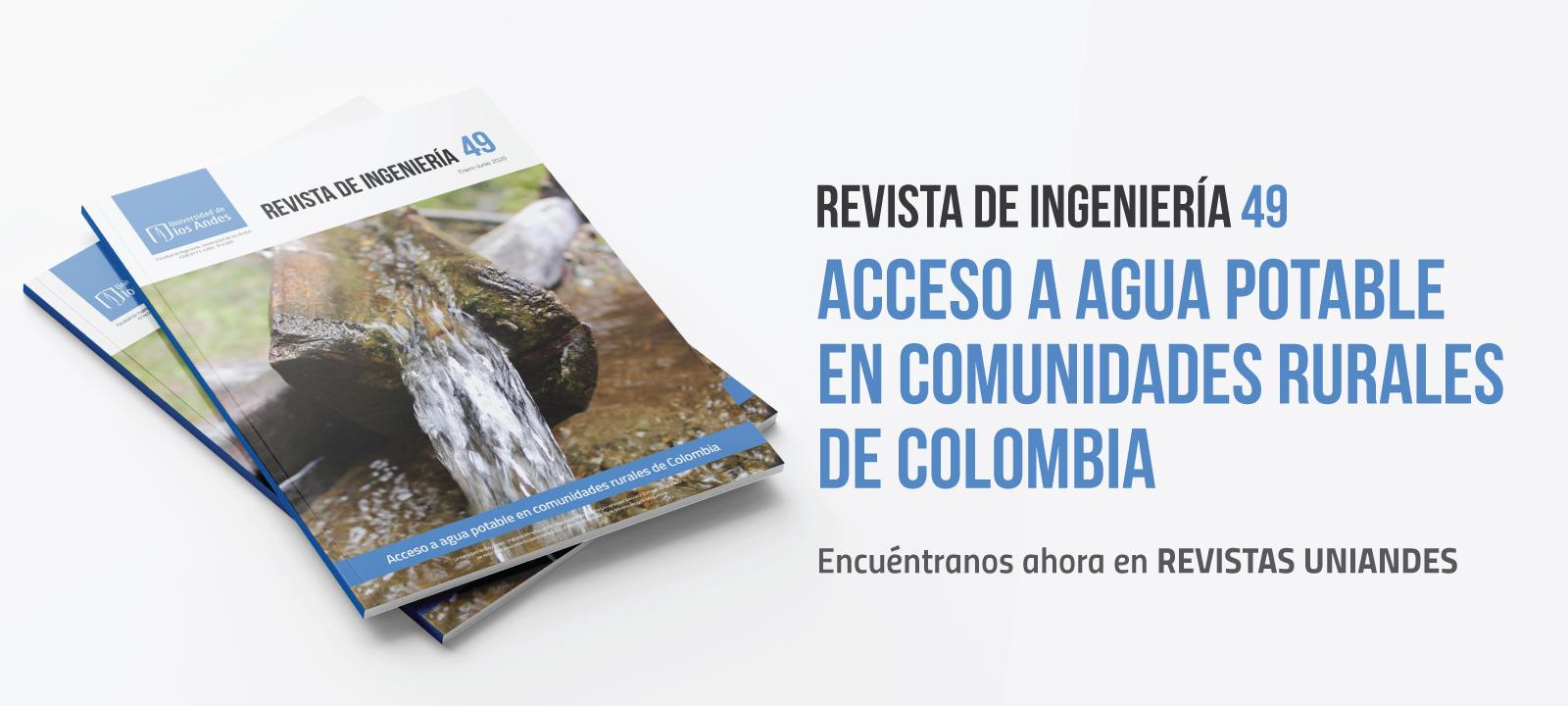 Revista de Ingenieria No. 49 - Acceso a agua potable en la ruralidad colombiana